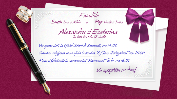 Texte Invitatii Nunta Ce Contine Si Cum Este Structurata Invitatia